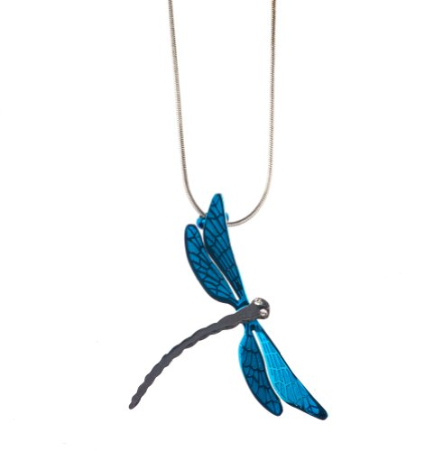 Stainless Dragonfly Pendant Necklace Shagwear