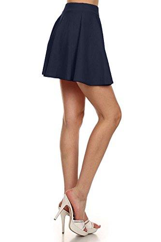 Small/Medium Medium/Large Skater Skirt Pleated High Waisted Short Mini Navy Blue Size S/M