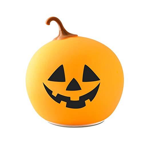 Enjoyment Halloween Pumpkin Lantern Light USB Rechargeable Pumpkin Lamp Halloween Nightlights LED Small Table Lamp Pumpkins Decor for Halloween Party Home]()