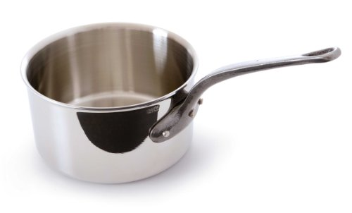Mauviel Made In France M'Cook 5 Ply Stainless Steel 5610.20 3.6-Quart Sauce Pan with Cast Iron Handle
