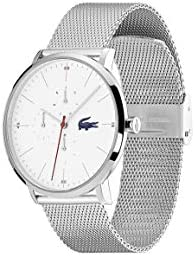 Lacoste Quartz Watch with Stainless Steel Strap, Silver, 20 (Model: 2011025) 3