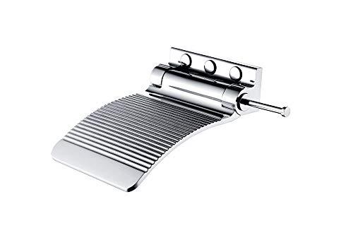 - Sanliv Solid Brass Leg-Shaving Shelf Fold-Up Shower Foot Rest in Polished Chrome Finish