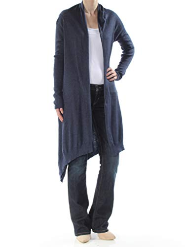 DKNY Womens Hi-Low Open Front Cardigan Sweater Navy XS/S