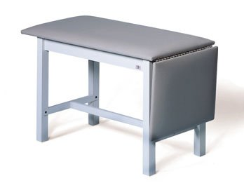 """Hausmann Wooden Space-Saver Treatment/Exam Table with H-Brace - 20""""W Adjustable Foot End - 52"""" or 72""""L"""