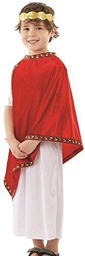 Boys Roman Emperor Historical Leader Julius Caesar Toga Job Occupation World Book Day Week Fancy Dress Costume Outfit 4-12 yrs (10-12 years) ()