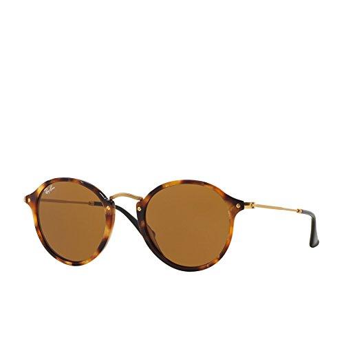 Ray-Ban Men's Round Sunglasses, Havana/Gray, One ()