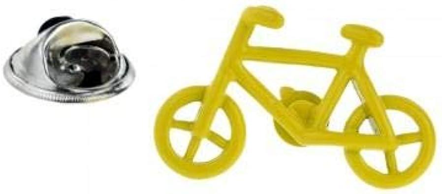 Insignia de pin de solapa de diseño de bicicleta amarilla: Amazon.es: Joyería