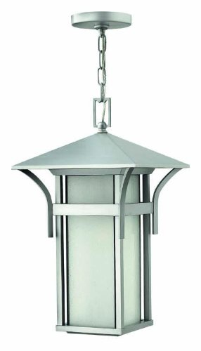 Harbor Outdoor Hanging Lantern in Titanium with Energy Saving Option ()