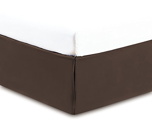 Gold Crown Collection Solid QUEEN BROWN BED SKIRT 1500 Serie