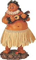 KC Hawaii Leilani Dashboard Hula Doll Local Boy with Ukulele (Retro Bobble Head)