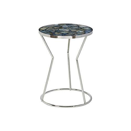 (Pulaski  Millard Polished Stone Circular Side Accent Table)