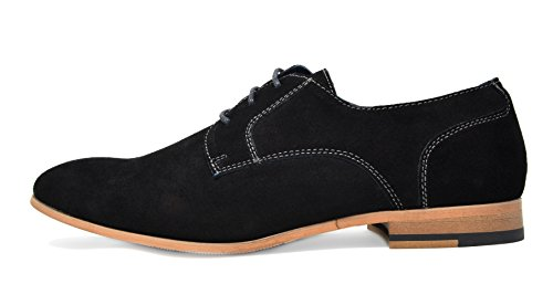 Bruno Marc Men's Constiano-1 Black Suede Leather Oxfords Shoes – 9 M US