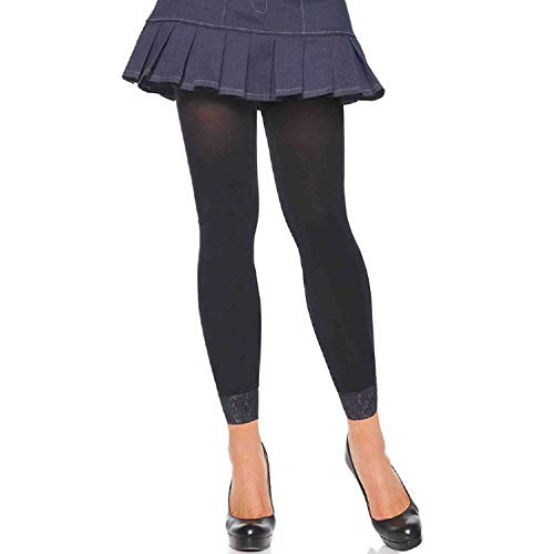 (Leg Avenue Womens Lace Trimmed Footless Tights)