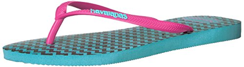 Havaianas Women's Slim Retro Sandal Flip Flop, Blue, 37 BR/7/8 W - Havaianas Shop