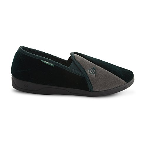 Dunlop - Zapatillas de estar por casa de sintético para hombre verde / gris