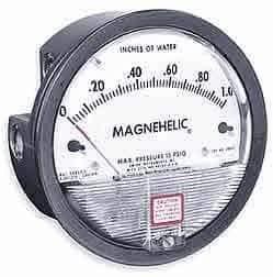 Dwyer Differential Pressure Gauge - Dwyer Magnehelic Series 2000 Differential Pressure Gauge, Range 0-30