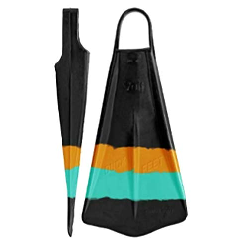 (Voit Duck Feet Fins (Turquoise/Orange, Large))