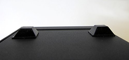Black Rubber Feet Adhesive Rubber Bumper, Tall Square Self Stick Bumpers, Black Bumper Pads - 84 Pack by Cloverdale Supply (Image #5)