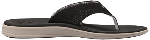 Rover Black Men's Reef Stripes Sandal Prints WYZ6Bw5q