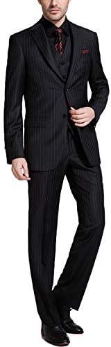 ストライプ スーツ メンズ 3ピース ビジネス 大きいサイズ 細身 紳士 礼服 パーティー