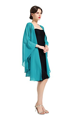 Chiffon Shawl Bridal Wedding Wrap Long Evening Scarves Scarf Turquoise