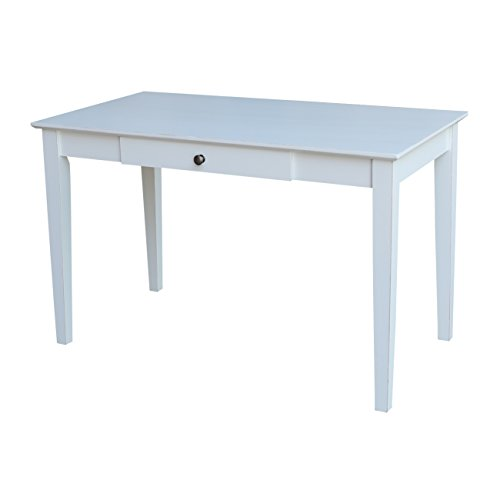 International Concepts Writing Desk with Drawer in Beach White