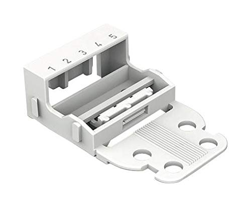 WAGO 221-505 Connector Accessory, Screw Mount, Mounting Carrier, Wago 221 Series 5 Conductor Terminal Blocks ()