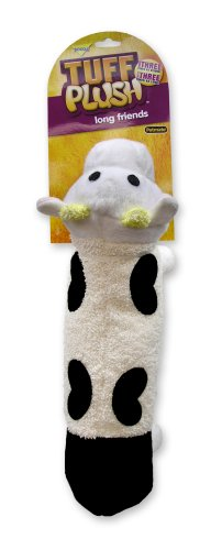 Petmate Tuff Long Friends Dog Toy, Cow (Toy Booda Dog)