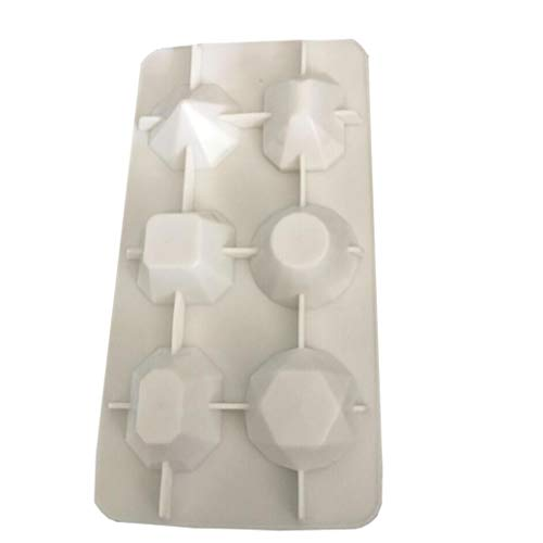 Ice Cube Trays, Diamond-Shaped Fun Ice Cube Molds Silicone Flexible Ice Maker for Chilling Whiskey Cocktails by KFSO Ice Cube Trays (Image #1)