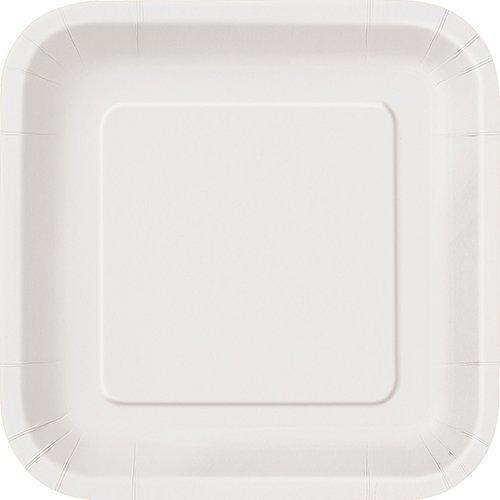 sc 1 st  Amazon.com & Amazon.com: UNIQUE PARTY 23cm Square White Party Plates: Toys u0026 Games