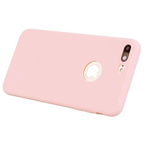 iPhone 7 Plus Carcasa 5.5 Carcasa,- ZHOUZEKAI Color lindo caramelo dulce de color Case Ultra Delgado TPU Goma Flexible Cover Protectora para iPhone 7 Plus 5.5 Pulgada