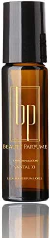 Santal 33 *Type (U) Fragrance Perfume Oil by BEAUTY PARFUME Concentrated Version Premium Perfume Body Oil Roll on : Uncut Parfum Oil