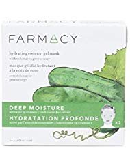 Farmacy Deep Moisture Hydrating Coconut Gel Mask with Cucumber Extract, 3 Masks