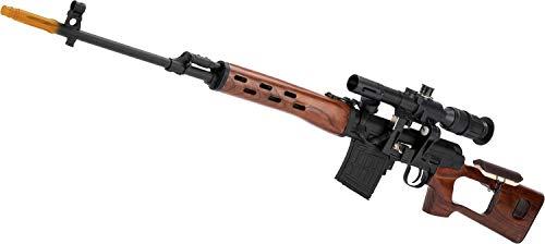 Aeg Sniper Rifle - Evike AIM CO2 High Power Gas Blowback AK SVD Airsoft GBB Sniper Rifle (Color: Real Wood Version)