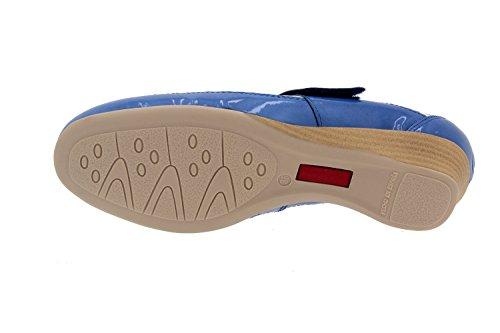 Calzado mujer confort de piel Piesanto 2731 zapato plantilla extraible cómodo ancho Azul