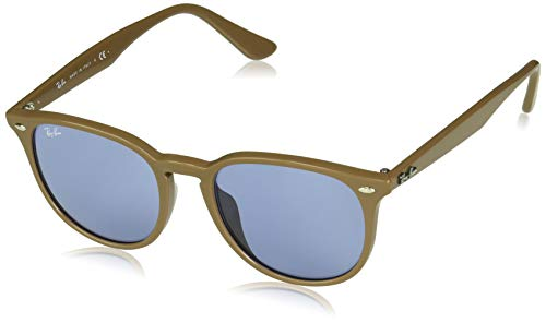 Ray-Ban RB4259F Round Asian Fit Sunglasses, Brown/Blue, 53 ()