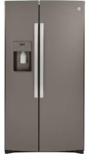 GE GSS25IMNES 36 Inch Freestanding Side by Side Refrigerator with 25.14 cu. ft. Capacity