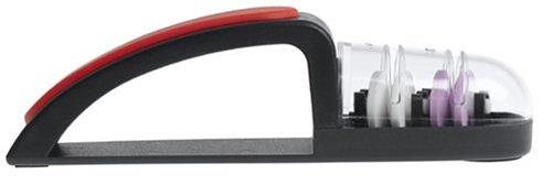 MinoSharp 440/BR Ceramic Wheel Water Sharpener Plus, Black/Red by Global (Image #1)