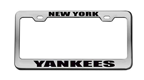 PANGERA New York Yankees Sports Team License Plate Frame Car Tag Frame Auto License Plate Holder 12