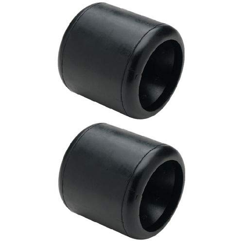 (1onehelper New 4-1/4 x 4-1/4'' Boat Trailer Black Molded Rubber Smooth Wobble Rollers (2pack))