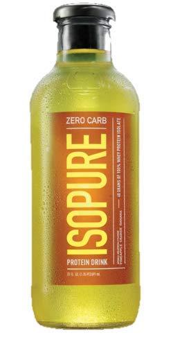 Nature's Best Isopure Pineapple Orange Banana - Liquid Protein Zero Carb Ready-to-Drink Post Workout Beverage - 20 oz./12 Pack (Pineapple Orange Banana)