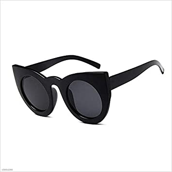 Amazon.com: Oversized Cat Eyes Frame UV Protection ...