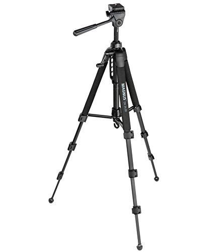 Magnus DX-3430 Deluxe Photo Tripod with 3-Way Pan-and-Tilt Head -