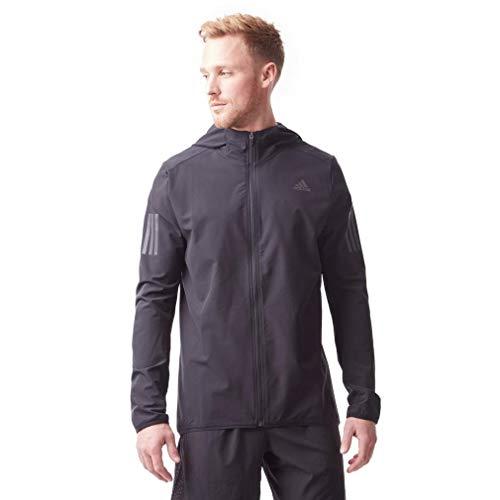 adidas Response Menâ€s Running Jacket, Black, XL