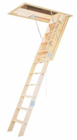 Wooden Attic Stair - Werner WH2208 8' Wooden Attic Ladder