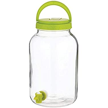 Circleware Undercoated Sun Tea Mason Jar Beverage Dispenser, 1 Gallon