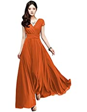 Women's V Neck Long Sleeve Mother of The Bride Dress Lace Bridesmaid Dresses Evening Formal Gown