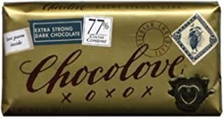 product image for 77% Extra Dark Strong Chocolate Bar 3.2oz: 12 Count