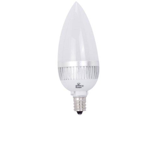 2w Accent Led (Globe Electric 7802701 Chandelier Led Accent 2-Watt Light Bulb, Candelabra Base with Medium Base Converter, Soft White)