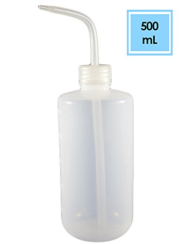 Sponix BioRx Wash Bottle - Squeeze Bottle - LDPE Body - Narrow Mouth - 500 mL - 1 pc (Irrigation Bottle, Pet Feeder, Liquid Container and - Lavette Bottle